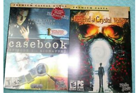 Casebook The Legend Of Crystal Valley PC CD Rom Games ...