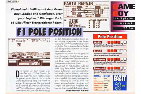 F1 Pole Position (Game Boy) - N.i.n.Retro (New is not ...