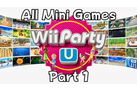 Wii Party U - All Mini Games Part 1 - YouTube