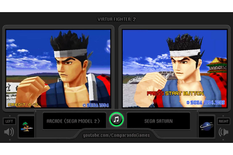 Virtua Fighter 2 (Arcade vs Sega Saturn) Side by Side ...
