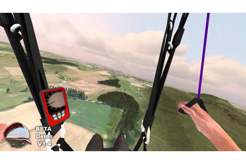 ParaflySim 3D Paragliding Simulator basic thermals - YouTube