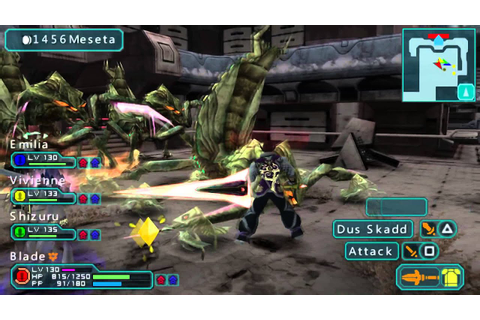 Phantasy Star Portable 2 - PPSSPP Emulator Gameplay - YouTube
