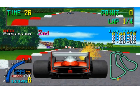 F1 Exhaust Note - Sega System 32 - Completo/Full Gameplay ...