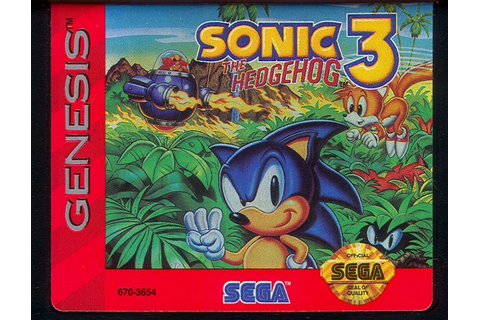 Sonic the Hedgehog 3 (1994) Genesis box cover art - MobyGames