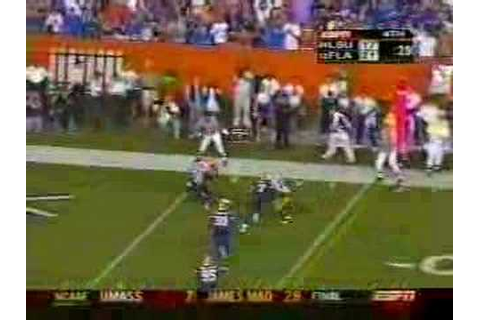 LSU-Florida 2004 football game ending - YouTube