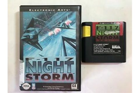 F-117 Night Storm (Sega Genesis, 1993) Game and Case ...