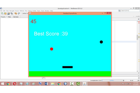 Core Java mini Project | Bounce Ball Game with source code ...