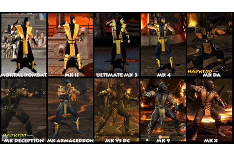 Mortal Kombat SCORPION Graphic Evolution 1992-2015 ...