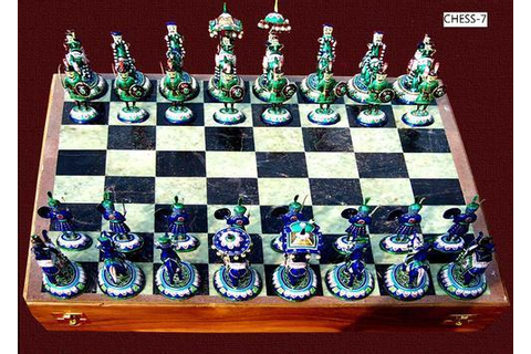 Chess Game, Silver Handicraft | Varanasi | Special Effect ...