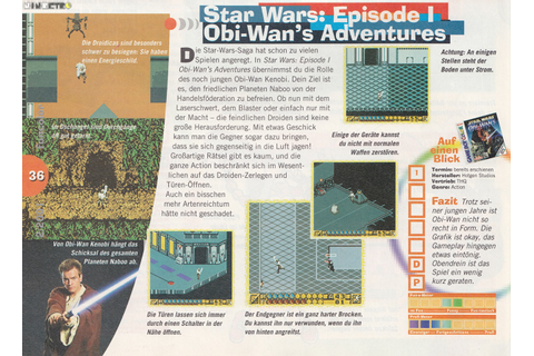Star Wars Episode I: Obi-Wan's Adventures (Game Boy Color ...