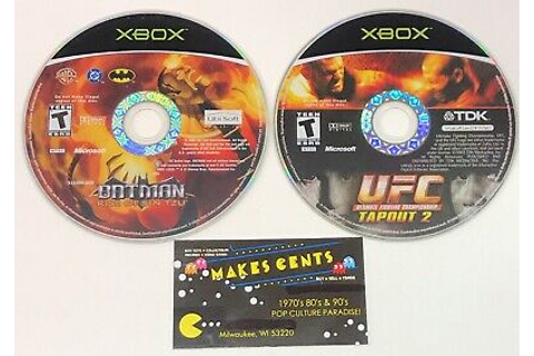 UFC Tapout 2 & Batman Rose Of Sin Tzu - Original Xbox Disc ...