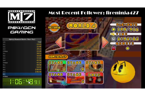 Namco Museum Remix (NMR) - Any% Pac n' Roll (Worlds 1-4) 1 ...