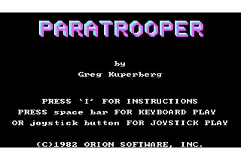Paratrooper gameplay (PC Game, 1982) - YouTube