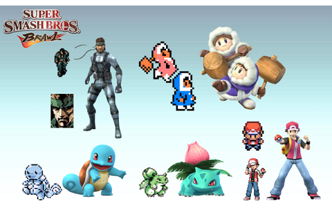 Smash Bros. Brawl characters from their original games ...