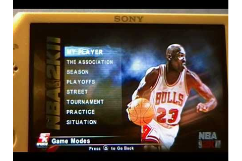 NBA 2K11 PSP Full Review - YouTube