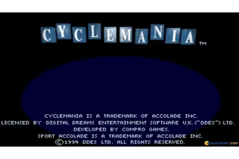 Cyclemania gameplay (PC Game, 1994) - YouTube