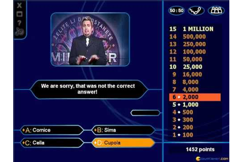 Who Wants to Be a Millionaire? gameplay (PC Game, 2000 ...