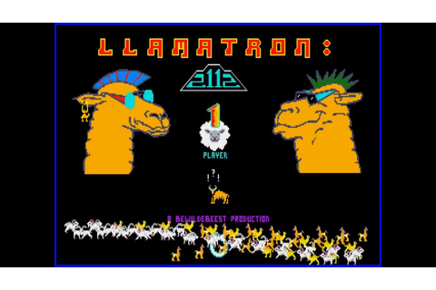 Llamatron on the Amiga - YouTube