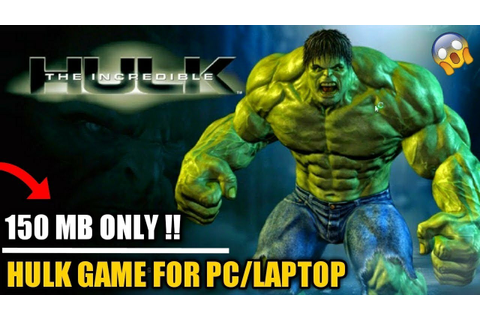 Hulk Game in Pc Download & Install Only 150 Mb - YouTube