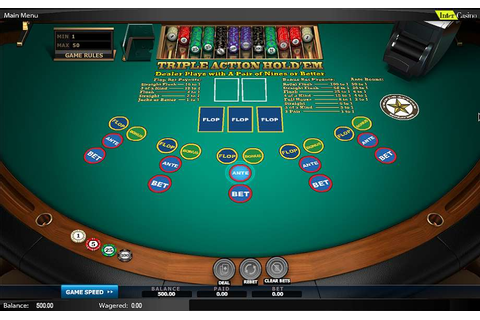 Play Triple Action Hold'em Table from NextGen for Free