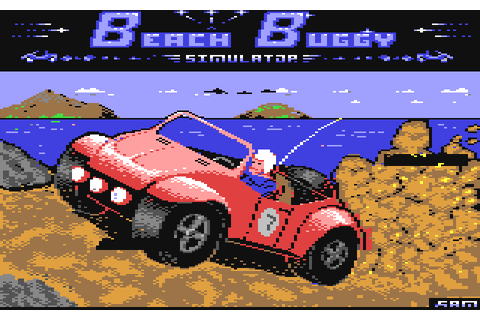 Beach Buggy Simulator (1988) by Firebird C64 game