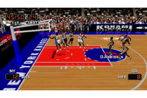 NBA In The Zone '99 Knicks Vs. Spurs [HD] - YouTube