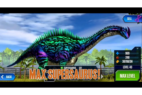 Maxing Out My Supersaurus! || Jurassic World The Game ...