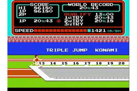 Track & Field (NES) - Round 1 Gameplay - YouTube