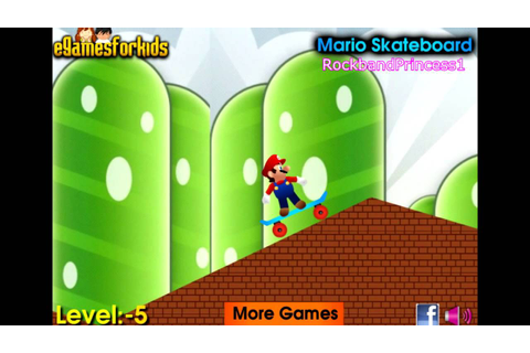 Play Free Online Mario Games For Kids - Mario Skateboard ...