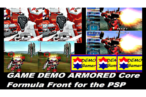 GAME DEMO ARMORED Core Formula Front for the PSP - YouTube