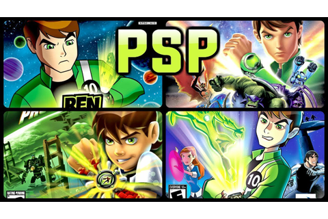 All Ben 10 Games for PSP (PPSSPP) - YouTube