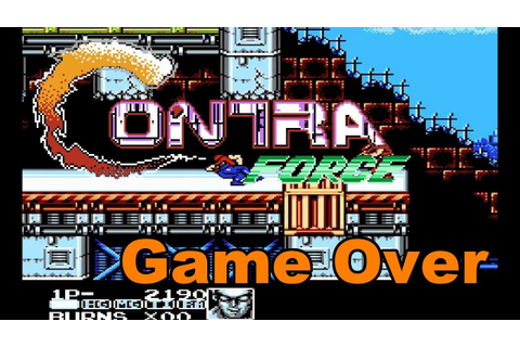 Contra Force [NES] - Game Over - YouTube
