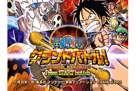 One Piece Grand Battle 3 (J) Rom +Emulator [PS2] - One ...
