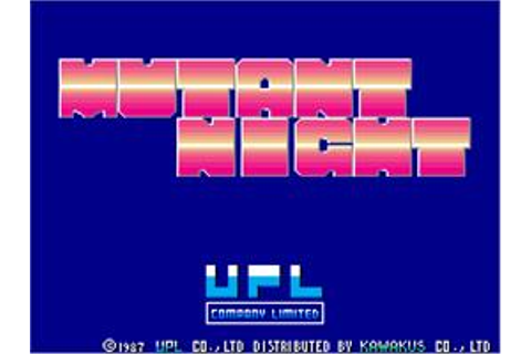 Mutant Night - Arcade - Games Database