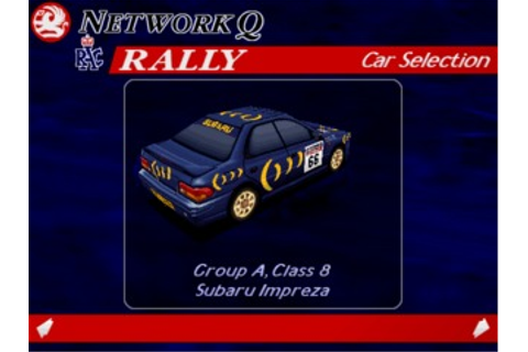 Network Q RAC Rally Championship (DOS) Game Download