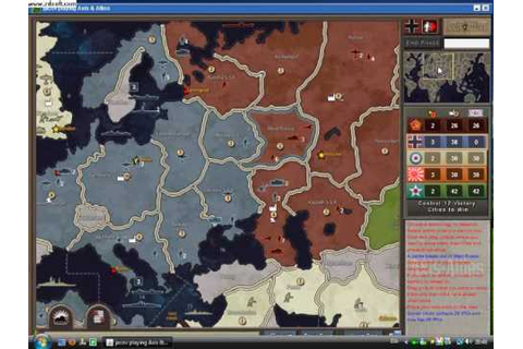 Axis and allies board game (part 1) - YouTube