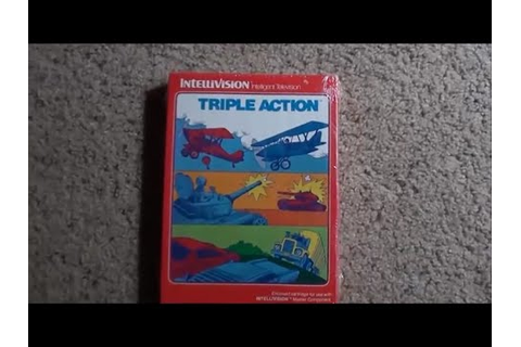 INTELLIVISION TRIPLE ACTION GAME FOUND - YouTube