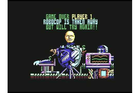 Robocop 2 C64 Game Over screen - YouTube