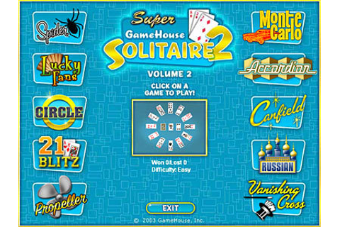 Full Super GameHouse Solitaire Vol. 2 version for Windows.