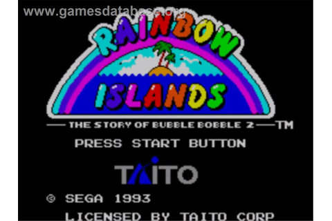 Rainbow Islands: The Story of Bubble Bobble 2 - Sega ...