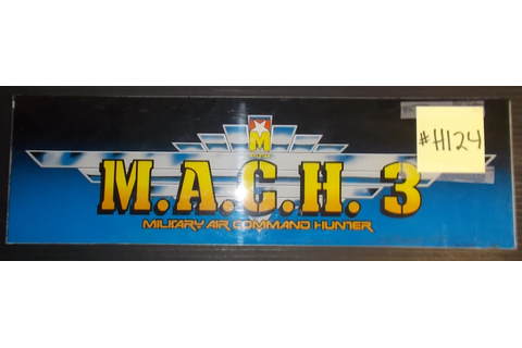 M.A.C.H. 3 MILITARY COMMAND HUNTER Arcade Machine Game ...
