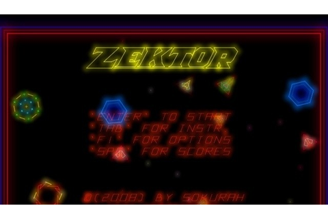 Zektor Games Original Game