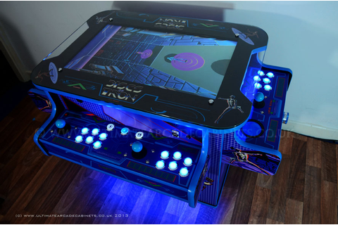 Disc of tron arcade machine| table