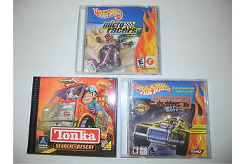 Hot Wheels and Tonka PC Game Lot of 3 Micro Racers Stunt ...