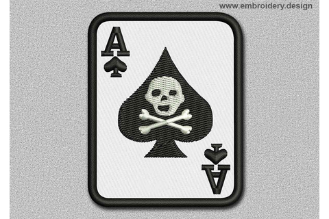 Game Patch The Ace Of Spades With Skull