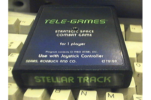 Atari 2600 VCS Stellar Track : scans, dump, download ...
