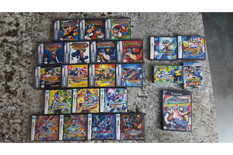 My Mega Man Battle Network/Star Force game collection. I ...