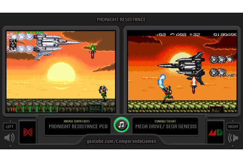 Midnight Resistance (Arcade vs Sega Genesis) Side by Side ...