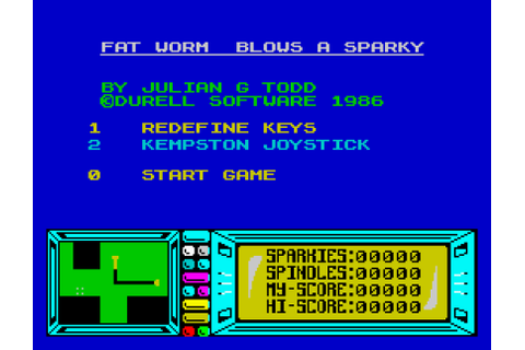 Fat Worm Blows A Sparky, ZX Spectrum – The King of Grabs