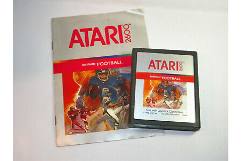 ATARI Real Sports Football GAME WITH MANUAL(Atari 2600 ...